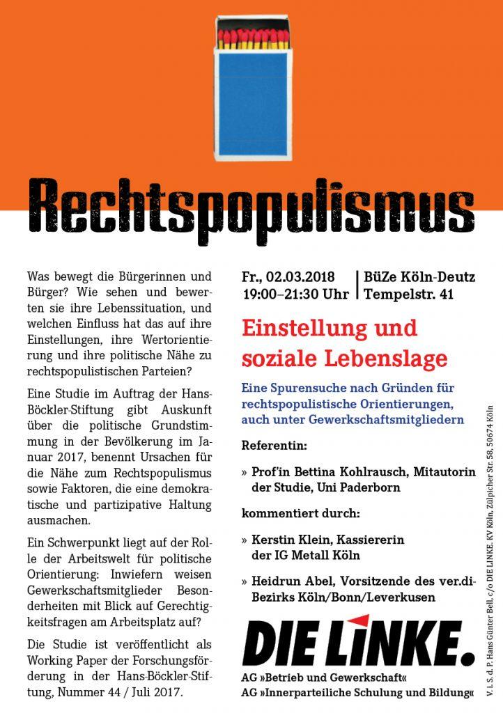 Bettina Kohlrausch zu: Rechtspopulismus. Einstellung und Lebenslage.