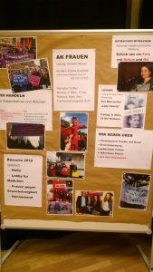 """Der AK Frauen stellte sich am 23.01.2018 auf der Kreismitgliederversammlung beim """"Markt der Möglichkeiten"""" vor"""