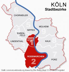 Koeln Bezirke 1 2 Innenstadt Commons.wikimedia.org Drawed By Elke Wetzig (elya) CC BY SA 3.0 Migrated Bearbeitet