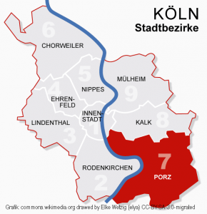 Koeln Bezirke 7porz Commons.wikimedia.org Drawed By Elke Wetzig (elya) CC BY SA 3.0 Migrated Bearbeitet