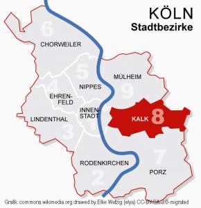 Koeln Bezirke 8kalk Commons.wikimedia.org Drawed By Elke Wetzig (elya) CC BY SA 3.0 Migrated Bearbeitet