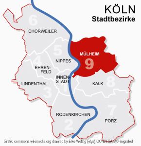 Koeln Bezirke 9muelheim Commons.wikimedia.org Drawed By Elke Wetzig (elya) CC BY SA 3.0 Migrated Bearbeitet