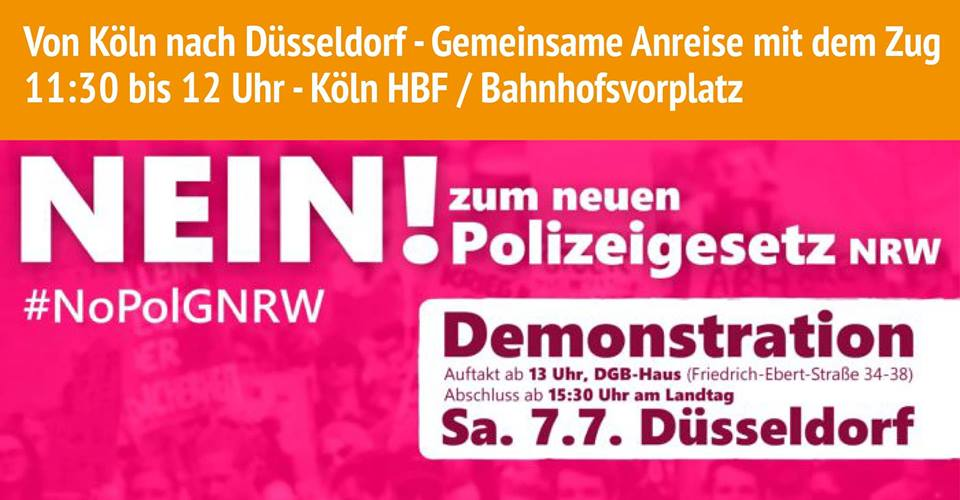 Nein! zum neuen Landespolizeigesetz NRW!