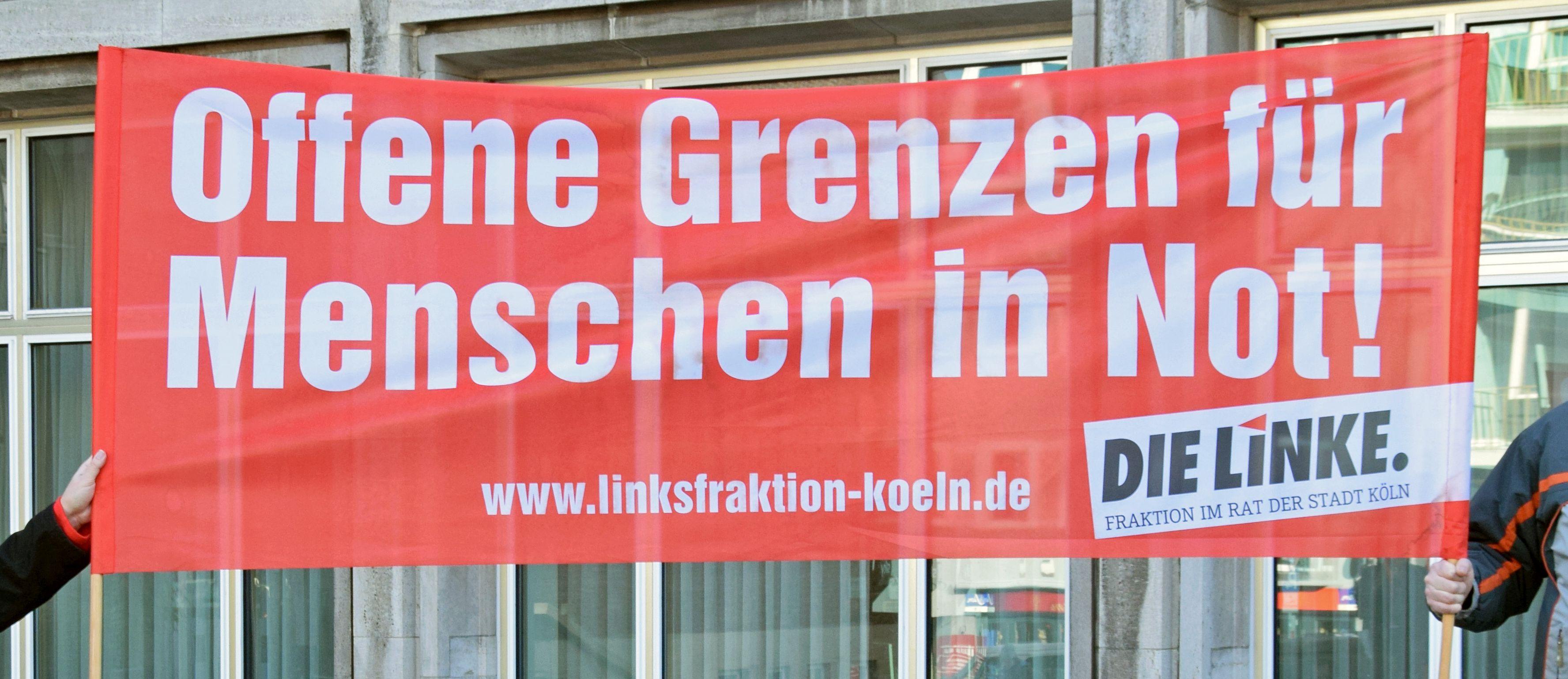Offene Grenzen für Menschen in Not! - DIE LINKE Fraktion im Rat der Stadt Köln