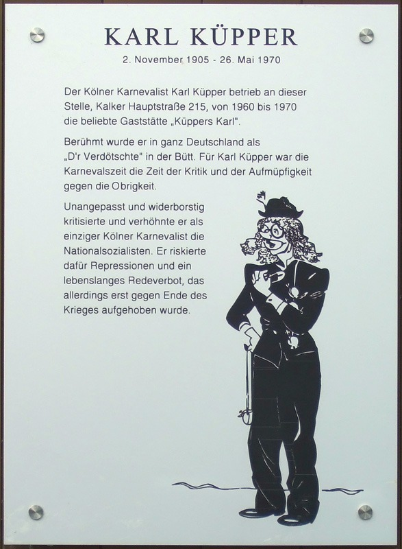Karl Küpper: der mutigste Karnevalist von Köln