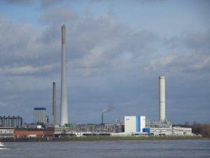Braunkohleverbrennung im Heizkraftwerk Köln Merkenich