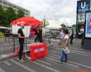 weiterer Infostand des OV Mülheim am 25.07.2020 auf dem Wiener Platz
