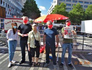 Infostand Wiener Platz 22.08.2020