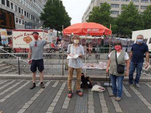 Infostand am 15.08.2020 auf dem Wiener Platz