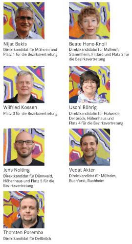1. Nijat Bakis, 2. Beate Hane-Knoll, 3. Wilfried Kossen, 4. Uschi Röhrig, 5. Jens Nolting