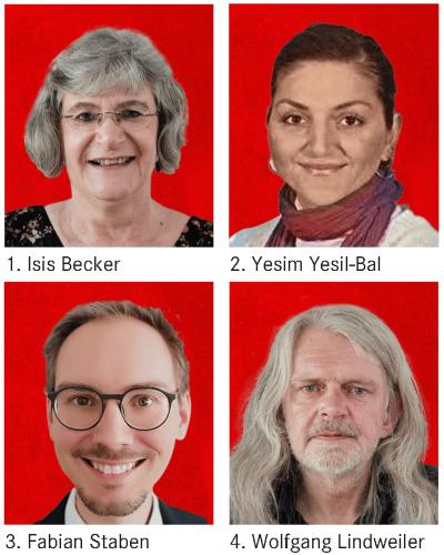 1. Isis Becker, 2. Yesim Yesil-Bal, 3. Fabian Staben, 4. Wolfgang Lindweiler