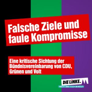 Falsche Ziele und faule Kompromisse - das schwarz-grün-violette Bündnis ist perfekt