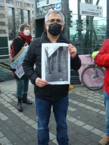 Kundgebung zur desolaten Toilettensituation am Wiener Platz am 13.03.2021