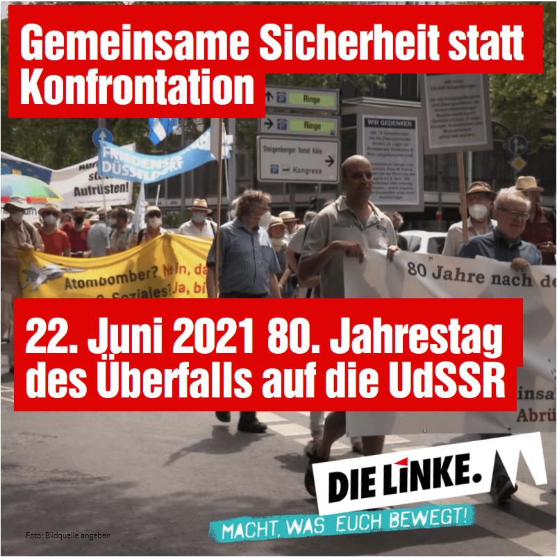 Gemeinsame Sicherheit statt Konfrontation, Videobericht von der Demo am Samstag
