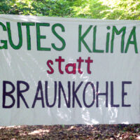 Gutes Klima statt Braunkohle - gegen die Räumungen im Hambacher Forst