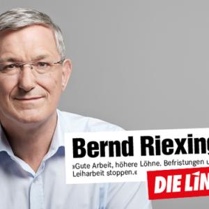 Porträt Bernd Riexinger, Parteivorsitzender der LINKEN